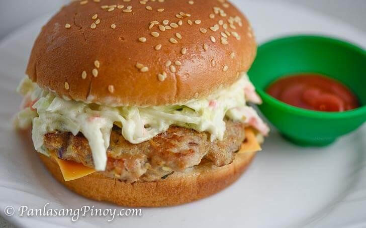 Pinoy Cheeseburger with Ketchup