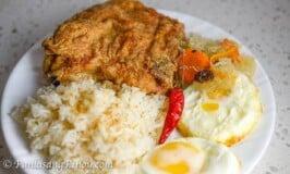 Oven Baked Pork Chop Silog with Atchara