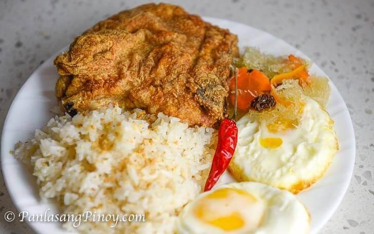 Pork Chop Silog with Atchara