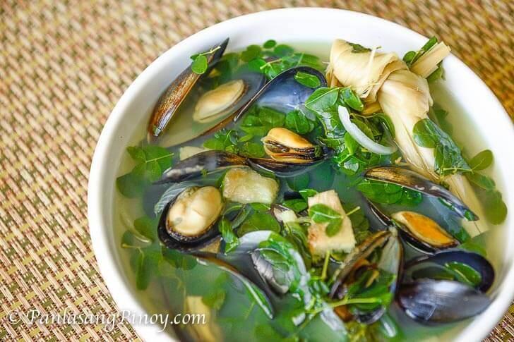 Tinolang Tahong with Malunggay Recipe