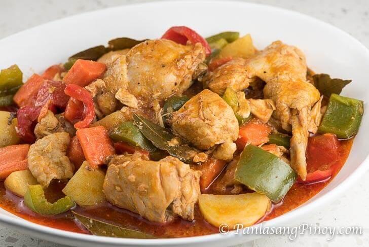 Chicken Afritada with Bell Pepper
