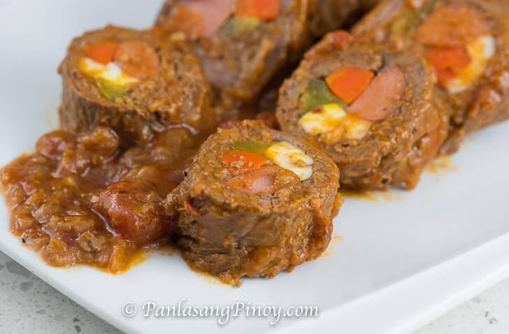 Classic Beef Morcon - Panlasang Pinoy