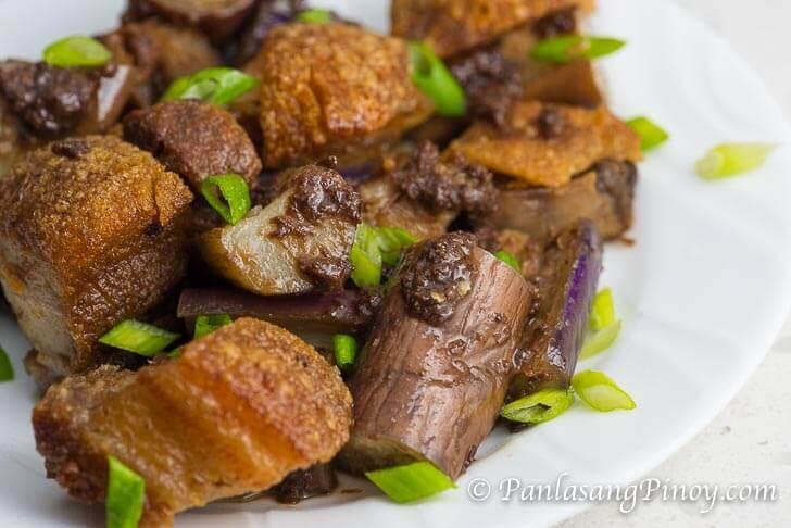 Binagoongang Talong (Eggplant in shrimp paste)