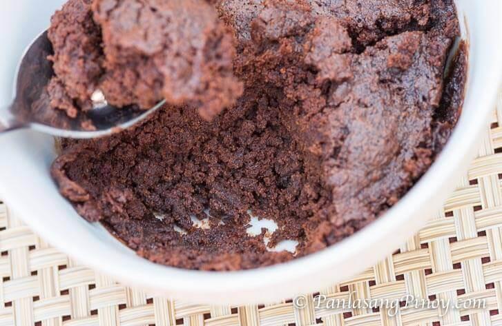 No Bake Microwave Brownie in a Bowl