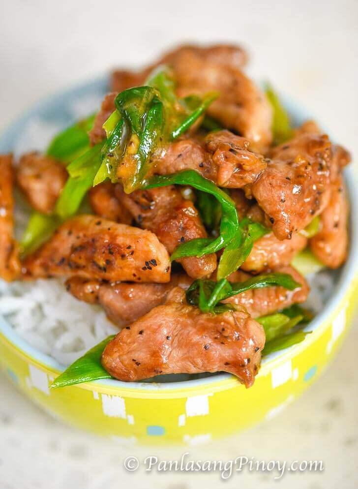 Pork and Scallions Stir Fry Recipe