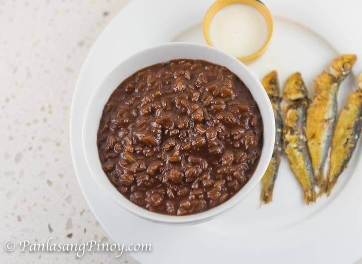 Champorado with Tuyo (Chocolate Porridge with Salted Dried Fish)