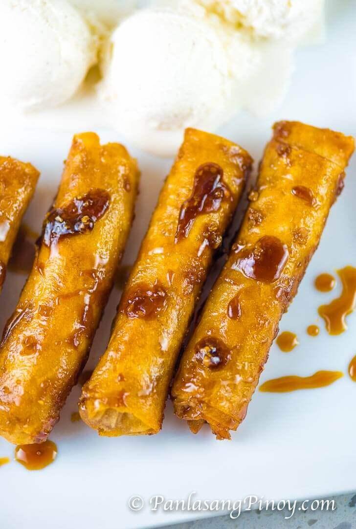 Mini Turon Recipe (Banana Lumpia with Caramel)