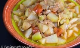 Sauteed Chayote with Pork and Tomato