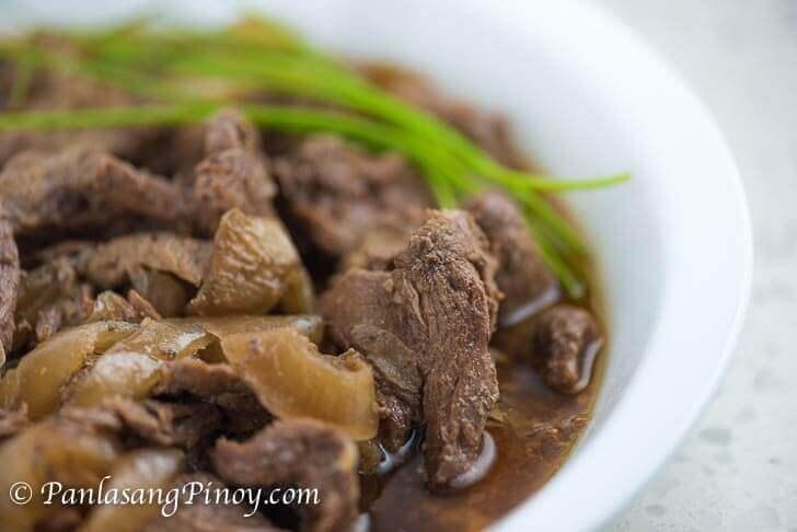 Slow Cooked Bistek Tagalog