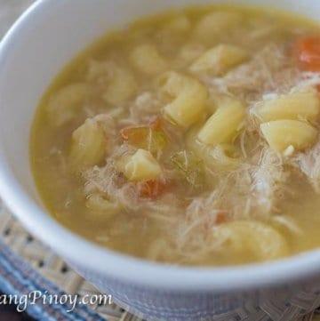 Chicken Macaroni Soup Recipe