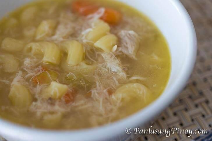 Chicken Macaroni Soup Recipe Panlasang Pinoy