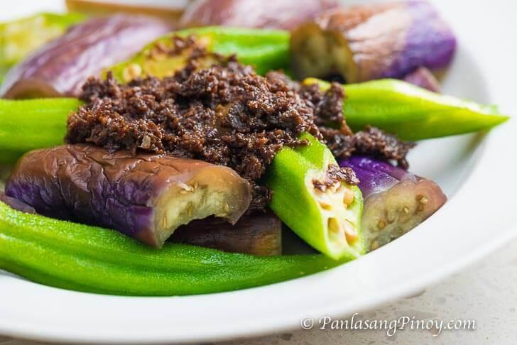 Steamed Eggplant and Okra with Bagoong Recipe Panlasang Pinoy