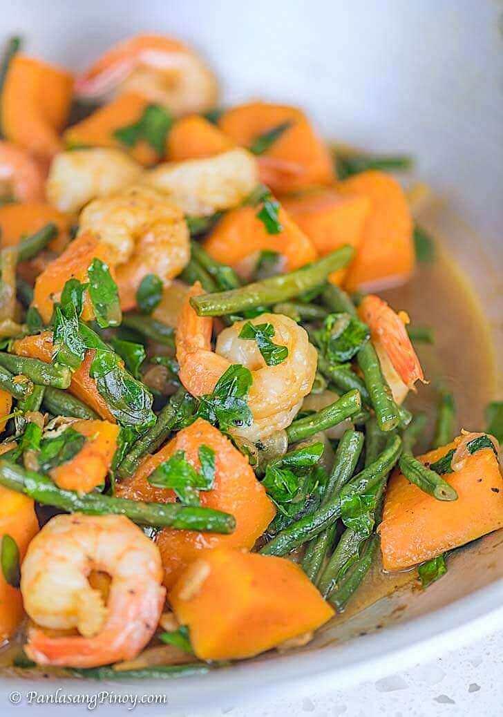 Ginisang Sitaw at Kalabasa with Shrimp Recipe Panlasang Pinoy