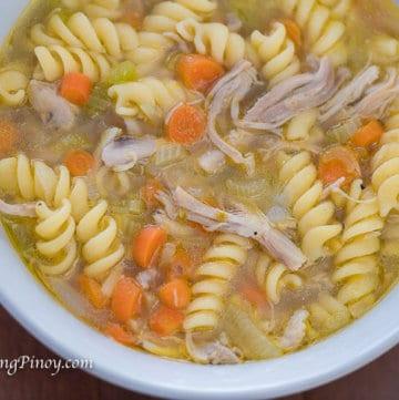 Panlasang Pinoy Chicken Noodle Soup Recipe