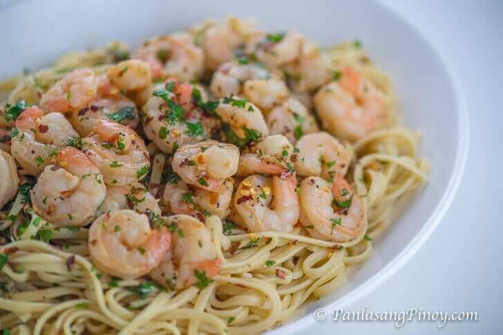 Shrimp Scampi Recipe with Linguine