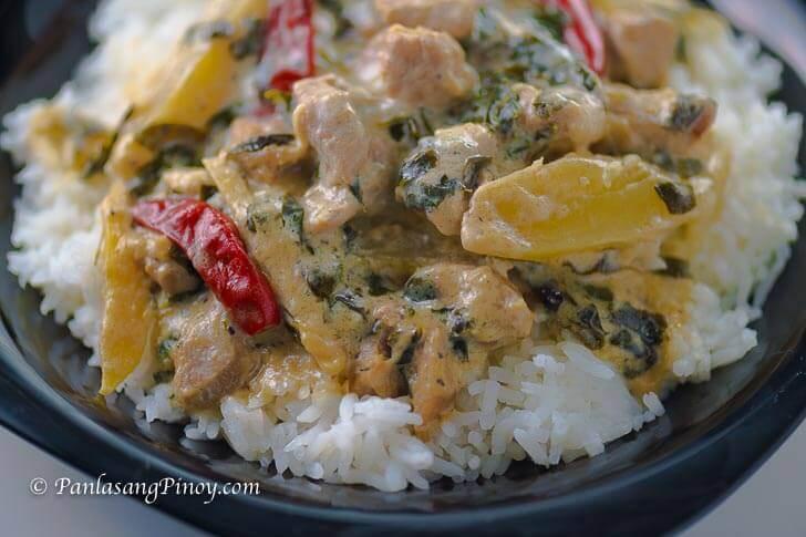 Spicy Ginataang Baboy with Papaya and Malunggay Recipe