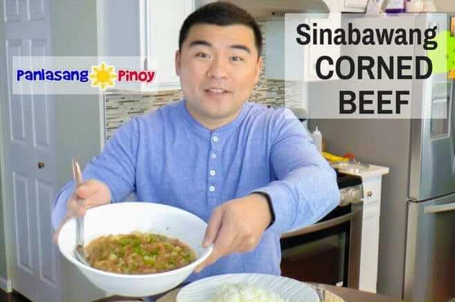 Vanjo Merano with his Sinabawang Corned Beef