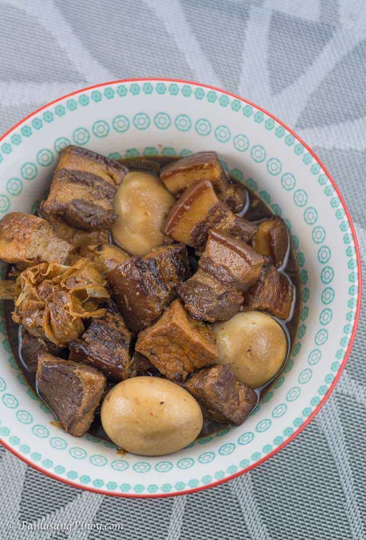 Braised Pork Belly in Soy Sauce Recipe Panlasang Pinoy - Tau Yew Bak
