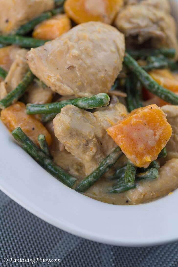 Ginataang Manok with Sitaw and Kalabasa Recipe Panlasang Pinoy