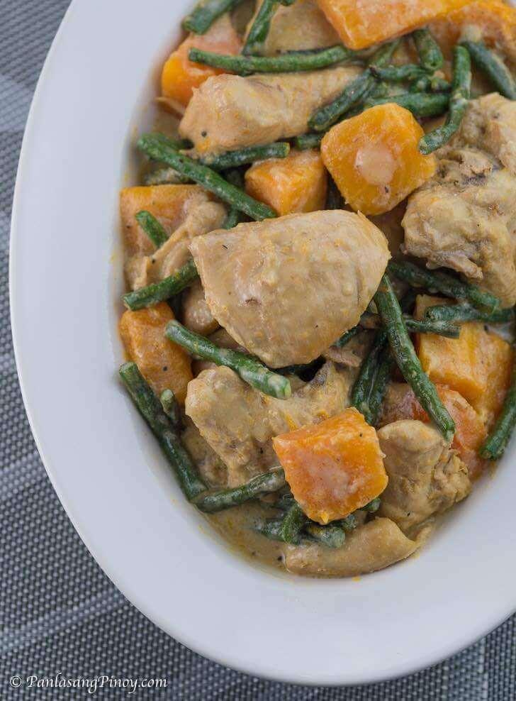 Ginataang Manok with Sitaw and Kalabasa Recipe