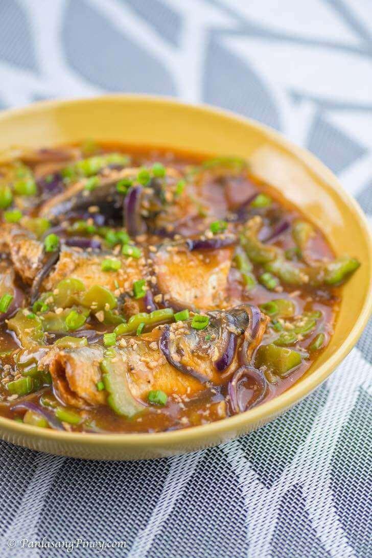 Ginisang Sardinas with Ampalaya Recipe Panlasang Pinoy