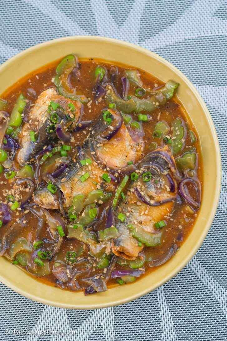 Ginisang Sardinas with Ampalaya