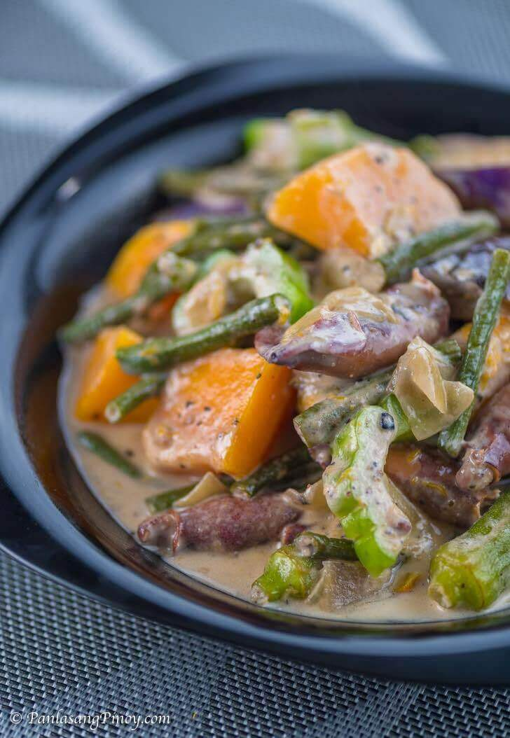 Pinakbet with Squid in Coconut Milk