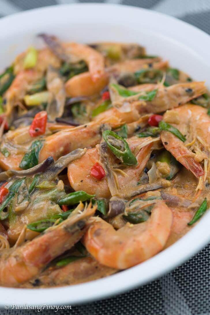 Spicy Ginataang Hipon Recipe Panlasang Pinoy