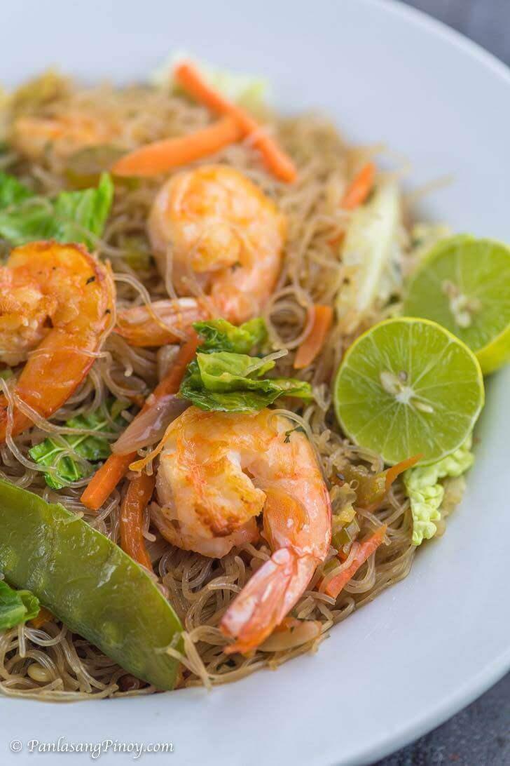 Shrimp Pancit Bihon Recipe Panlasang Pinoy