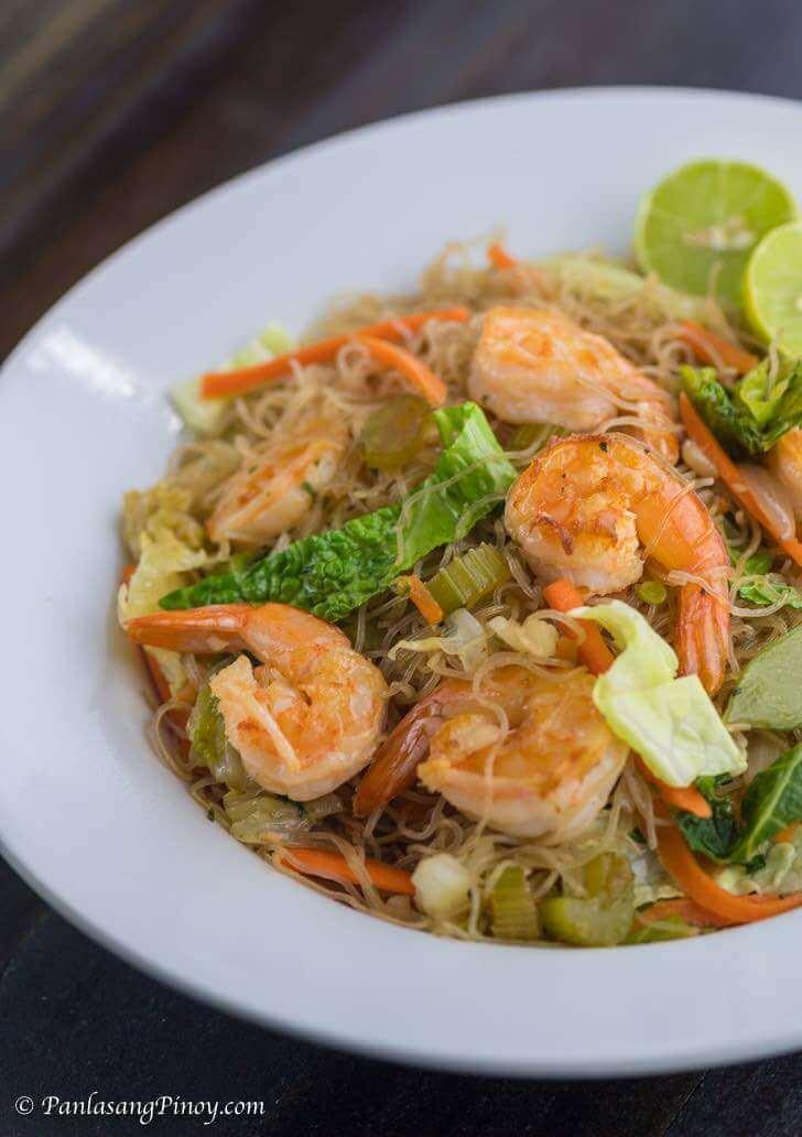 Shrimp Pancit Bihon Recipe
