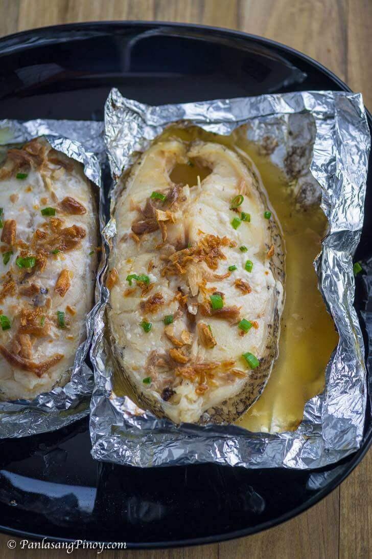 Grilled Grouper Steak in Foil Packets Recipe