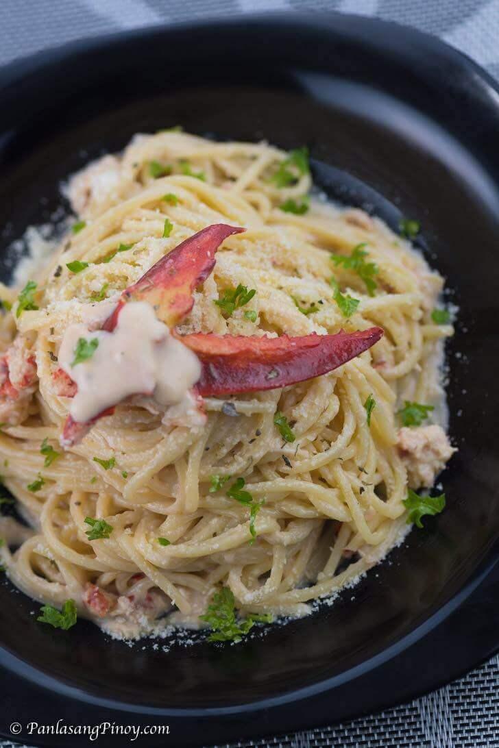 Lobster Pasta in Creamy Alfredo Sauce Recipe - Panlasang Pinoy
