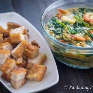 Shrimp Monggo with Lechon Kawali