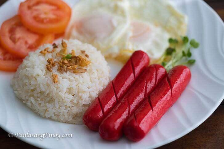 Hotdog Sinangag at Itlog