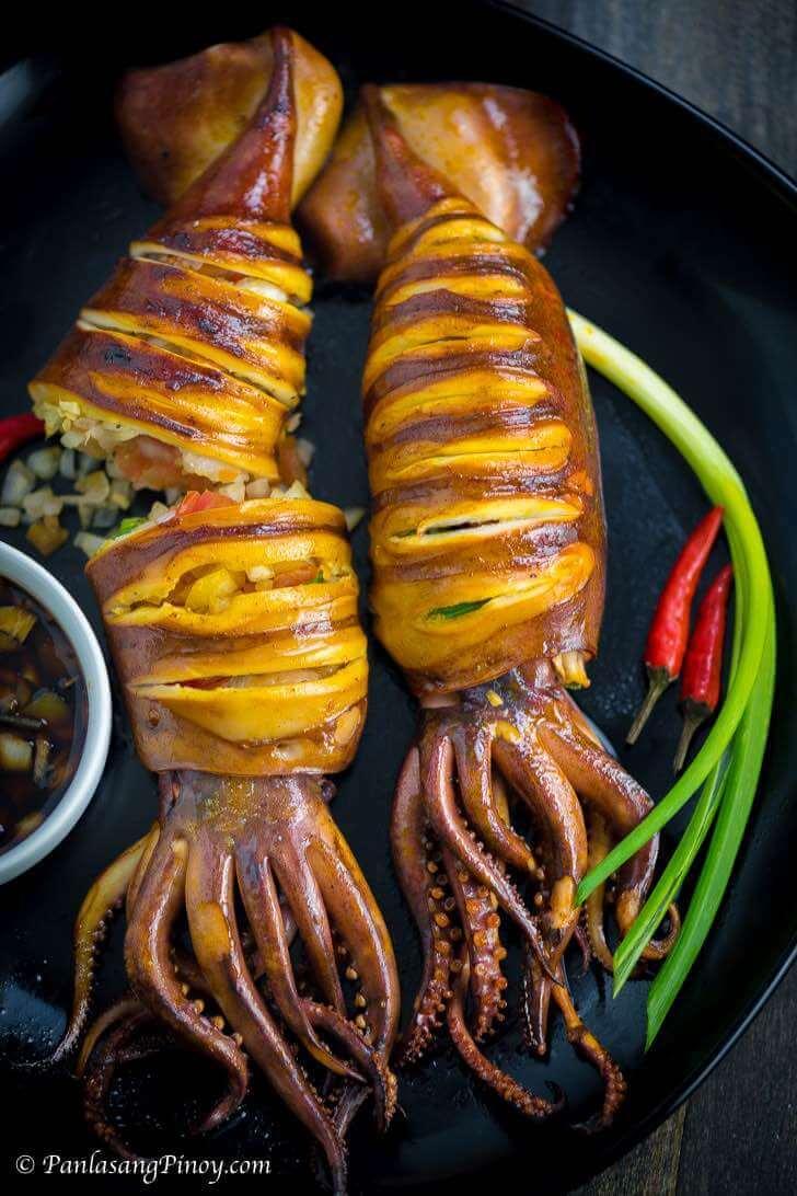 Inihaw na Pusit - Grilled Squid