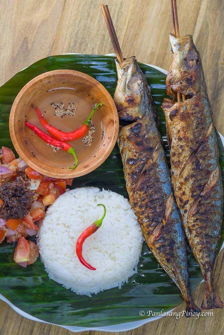 Inihaw na Galunggong with Ensaladang Talong Recipe