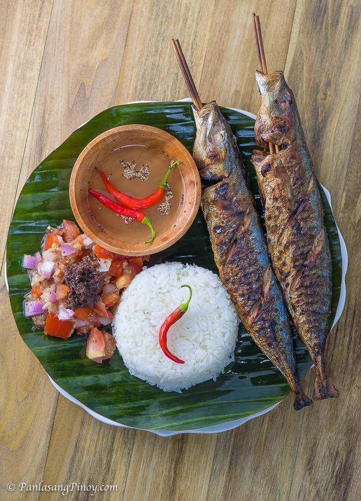 Inihaw na Galunggong with Ensaladang Talong