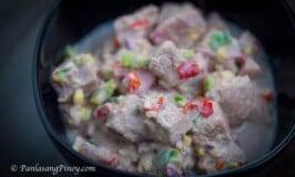 Kilawing Tuna with Coconut Cream