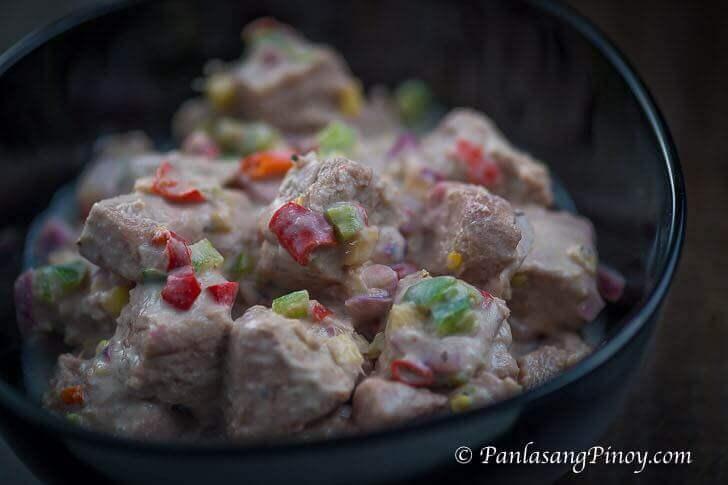 Kilawing Tuna with Coconut Cream Recipe