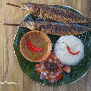 Panlasang Pinoy Inihaw na Galunggong with Ensaladang Talong Recipe