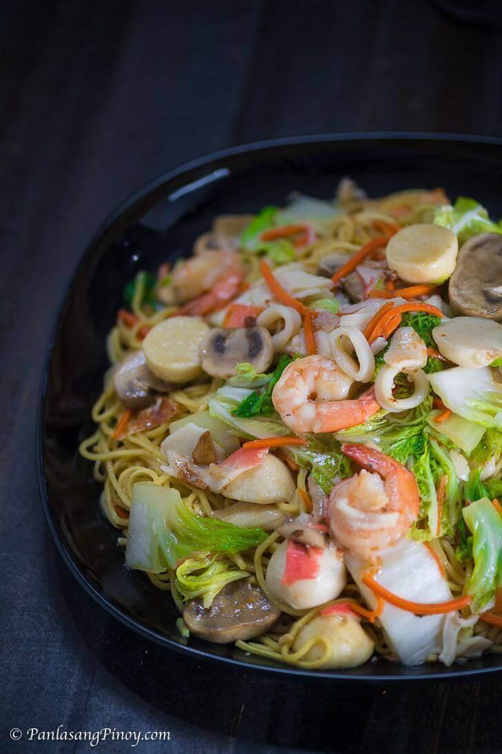 Seafood Pancit Canton Panlasang Pinoy