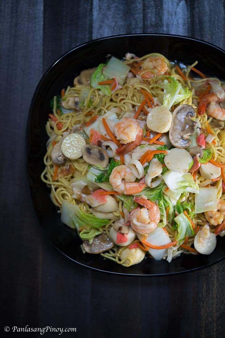 Seafood Pancit Canton Recipe Panlasang Pinoy