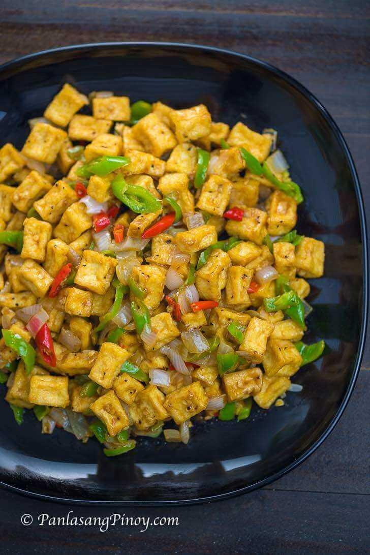 Crispy Tofu Sisig Panlasang Pinoy