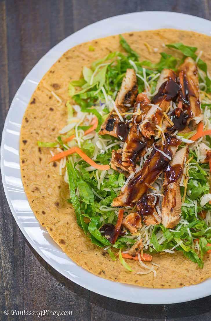 Chicken BBQ Wrap Recipe Panlasang Pinoy