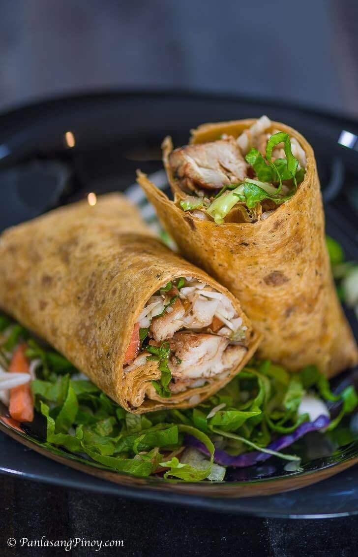 Chicken BBQ Wrap Recipe