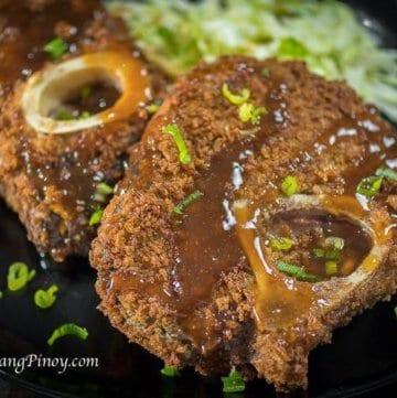 Deep Fried Bulalo with Teriyaki Sauce Recipe