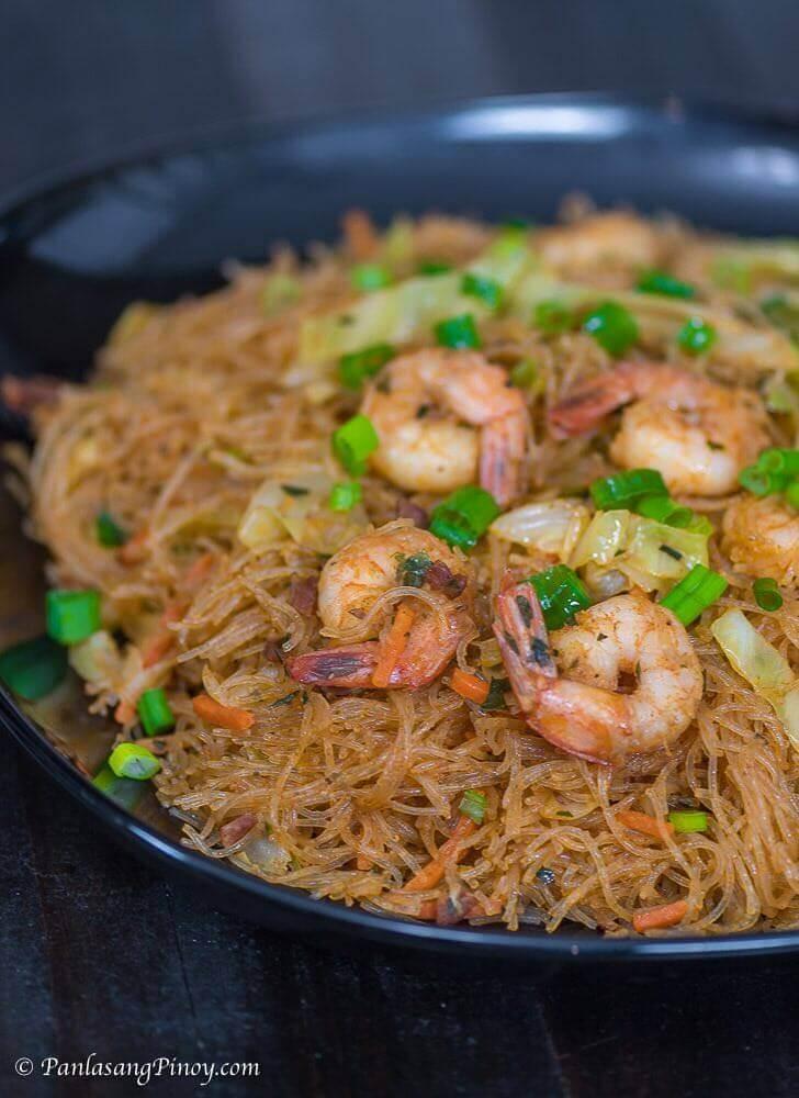Pancit Sotanghon Na May Hipon Recipe