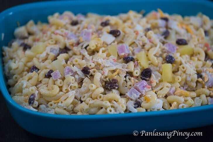Pinoy Christmas Recipes 2020 Macaroni Christmas Chicken and Ham Macaroni Salad   Panlasang Pinoy