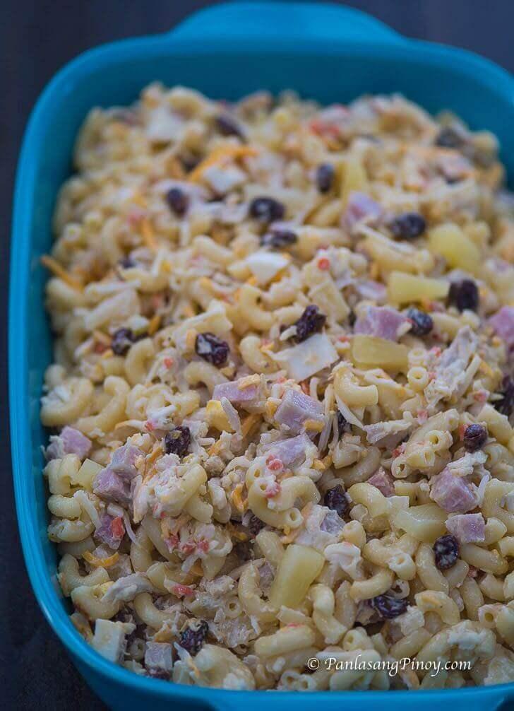 Christmas Chicken and Ham Macaroni Salad Recipe Panlasang Pinoy
