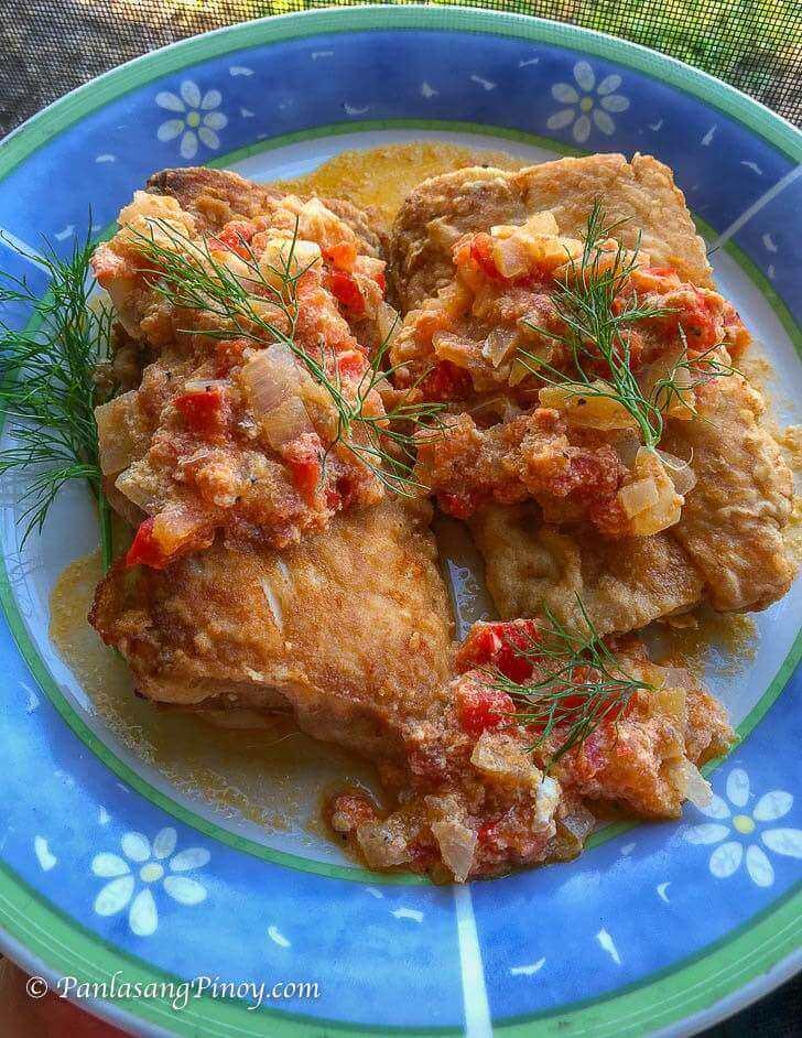 Crispy Fried Mahi Mahi Sarciado